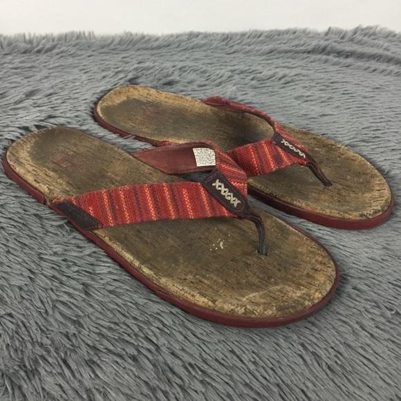 40ebc2d52dc UGG Men's Braven Diego Burgundy Flip Flop Sandals